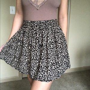 Cheetah print mini circle skater skirt Cotton On